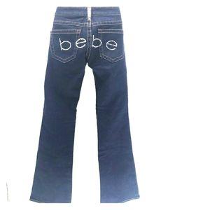 bebe dark wash bootcut jeans